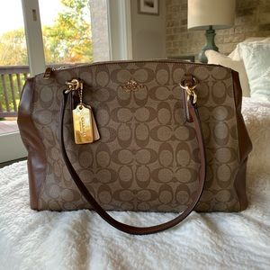 Coach-Christie Carryall Signature Coated Canvas